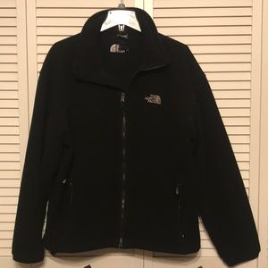 The North Face Black Zip Up Fleece Jacket Size L